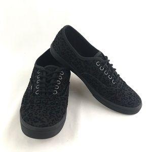 Vans Black Cheetah Print Doren Skate Shoes Size 8